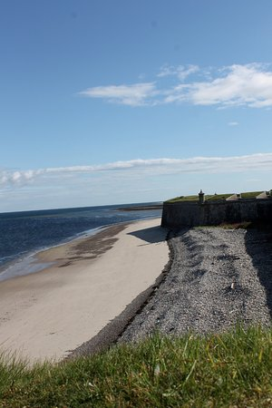 Fort George: view along the barracks walls facing Moray Firth