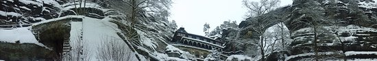 Krasna Lipa, สาธารณรัฐเช็ก: Pravcicka gate - winter