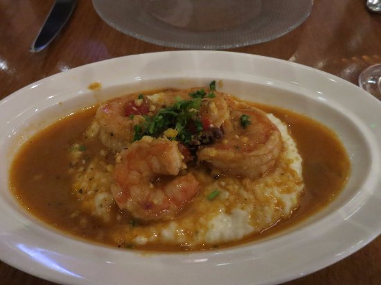 Shrimp and grits picture of fish by jose andres oxon for Fish by jose andres menu