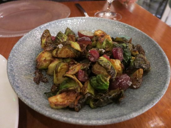 Brussels sprouts with corn grapes and cranberries for Fish by jose andres