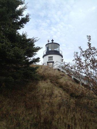 Owls Head Lighthouse on a Hill