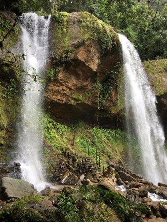 San Isidro del General, Costa Rica: Vista de Catarata porción superior en Noviembre 2017