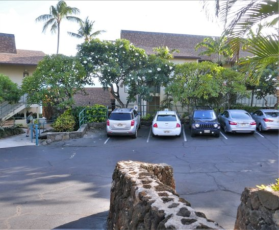 Poipu Shores Resort: One of the parking areas