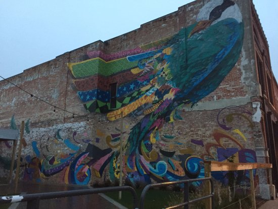 Rensselaer, IN: cool street art across the street