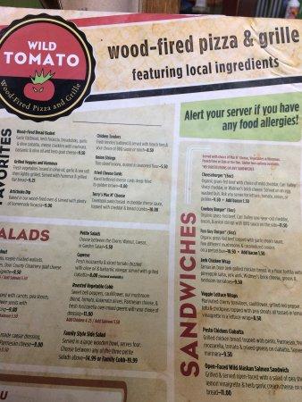 Wild Tomato: Menu