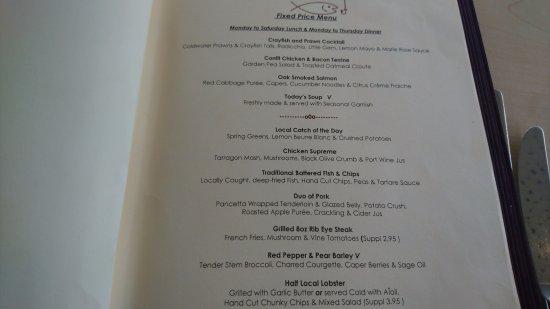 L'Auberge: Fixed price menu