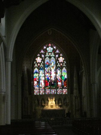 Holy Cross Church : Closer look at stained glass window