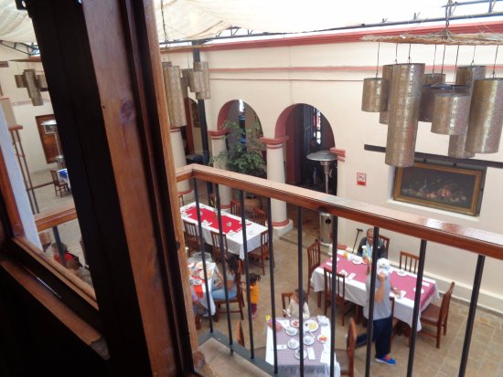 Hotel San Marcos: My window faced the dining area...noise wasn't a problem as I was up early every morning.