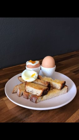 Avoca Beach, Australia: Soft Boiled Eggs and Sourdough Soldiers