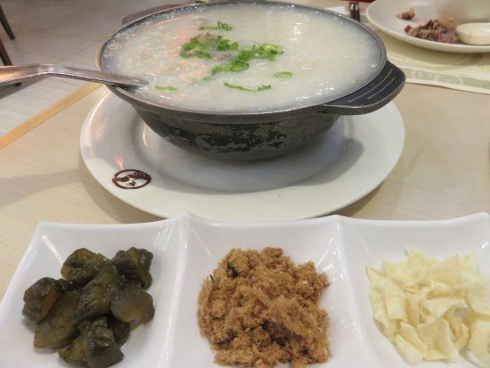 Thornhill, Canada: Salt pork bones, sun-dried tile fish and peanut congee