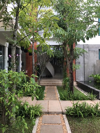Courtyard area with the most beautiful garden!