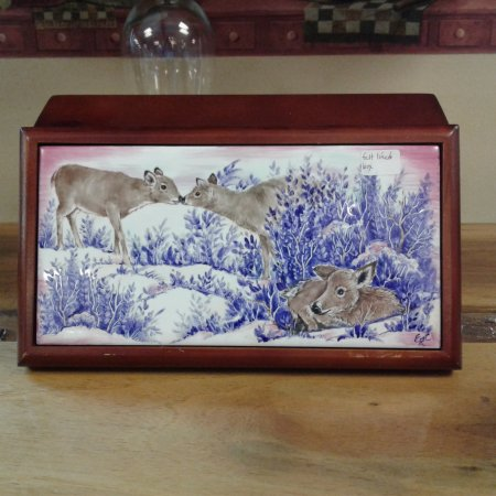 Ashville, NY: Hand painted porcelain box