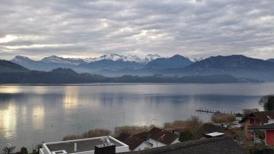 Merlischachen, Swiss: View from our room.