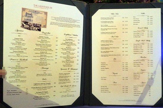 The Lighthouse Restaurant & Rooftop Bar: メニュー