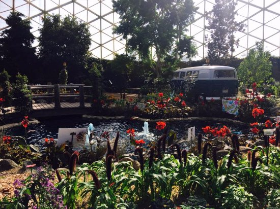 Mitchell Park Horticultural Conservatory (The Domes): Show Dome 25 September 2017 with Flower Power theme