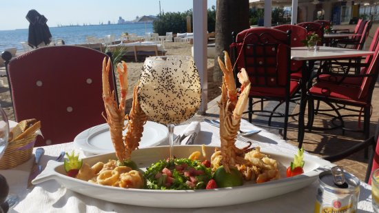 Adriatik Hotel: Fresh seafood in our Terrace