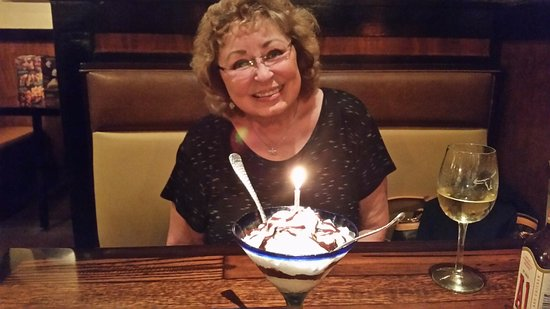 LongHorn Steakhouse: Looking Great with a Birthday Dessert!