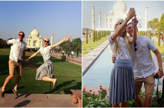 En dag Taj Mahal tur fra Delhi med bil