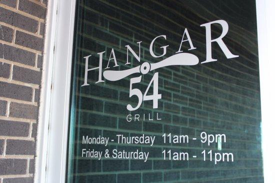 Hangar 54 Grill: Welcome.