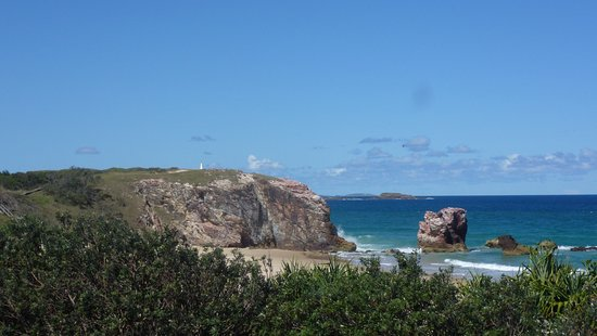 The Headland and Red Rock from the lookout - a few paces from the campground