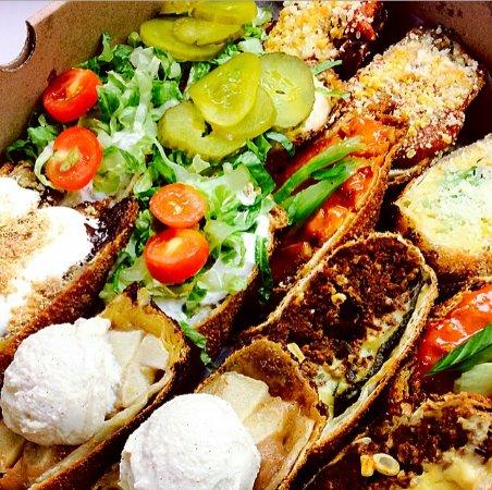Sampler platter - order as many Meggrolls as you need!