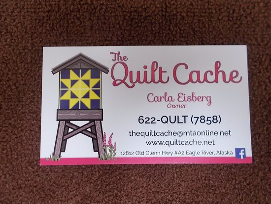 The Quilt Cache, Eagle River, Alaska, Business Card.