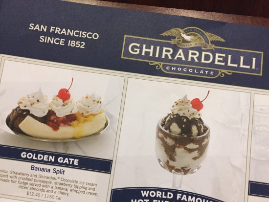 Ghirardelli Ice Cream & Chocolate Shop: Old school since 1852