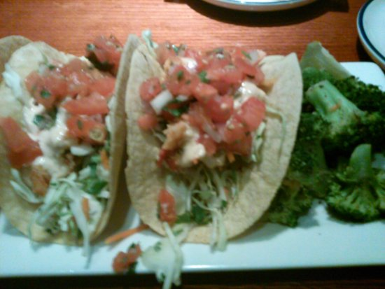 Duncanville, TX: Lobster tacos with broccoli
