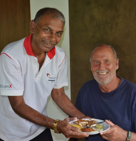 Lanka Inora Travels: My loving farther with our family friend Mr. Wilkey from Germany !!