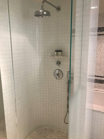 The London West Hollywood at Beverly Hills: amazing shower and it has an identical shower on the other side
