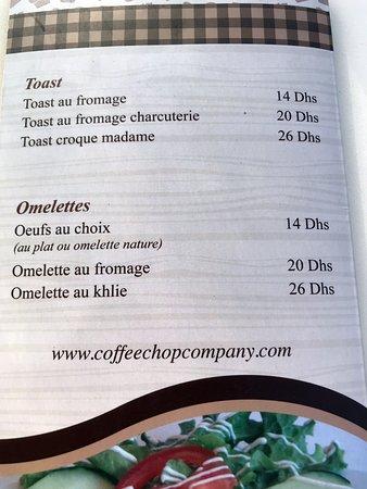 Coffeeshop Company: Neben den vier Frühstücksangeboten kann man auch individuell bestellen.