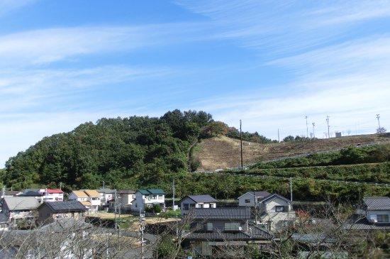 Mitake Castle Ruins Park: 城址公園の遠景