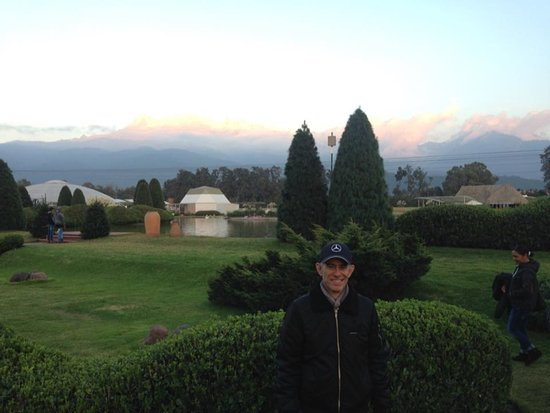 Hacienda Panoaya: Amazing sunset view of the Iztatzihuatl volcano
