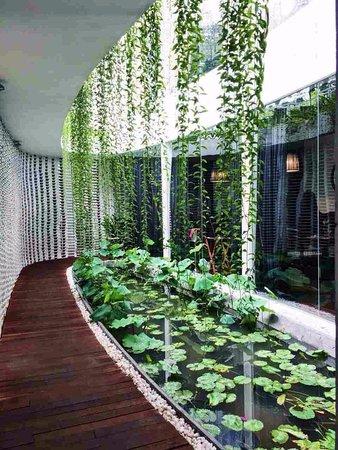 Home Finest Saigon Restaurant: lotus mini lake