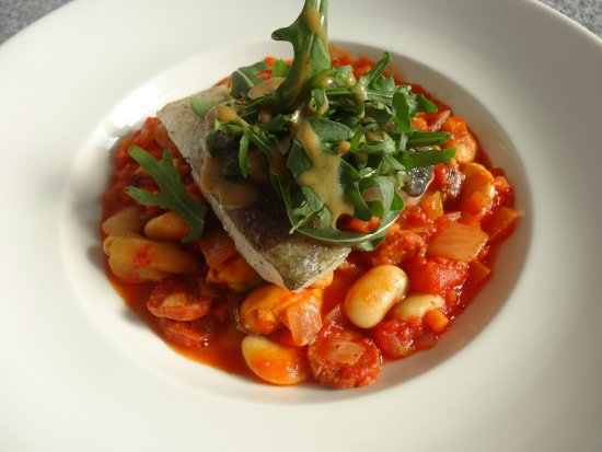 Bonar Bridge, UK: Cod on bean cassoulet