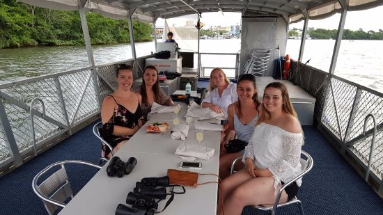 Innisfail, Australia: Our group on the lovely new boat