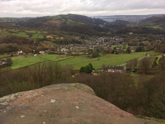 Cromford, UK: View from the top of black rock