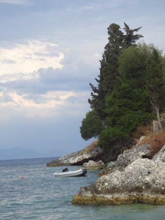 Loggos, اليونان: View from Roxi Bar
