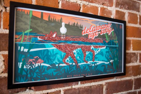 Port Jervis, NY: Beer Label Artwork at Fox N Hare Brewery