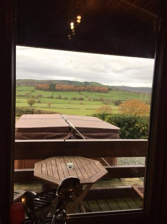 Llanidloes, UK: From the kitchen window.