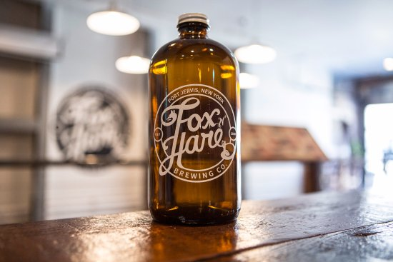 Port Jervis, NY: 32 ounce Growler at Fox N Hare Brewery