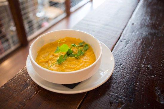 Port Jervis, Estado de Nueva York: Butternut Squash Soup at Fox N Hare Brewery