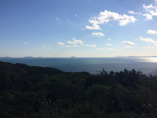 Minamichita-cho, Japan: 遠く伊良湖岬と神島が見えます。