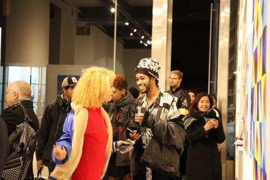 Agora gallery's receptions are usually lots of fun!