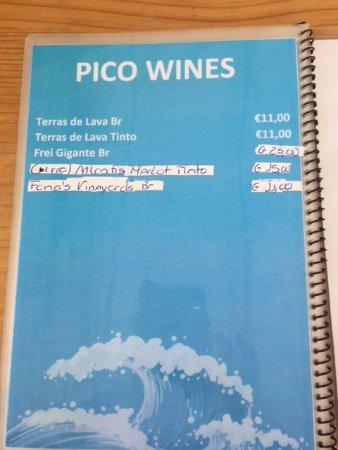 Madalena, Portugal: Wine list