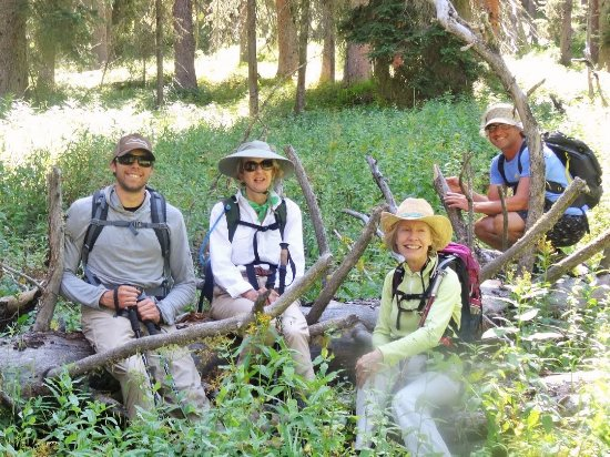 Flat Creek Ranch: Guided hiking int the wilderness, just another one of our activities.