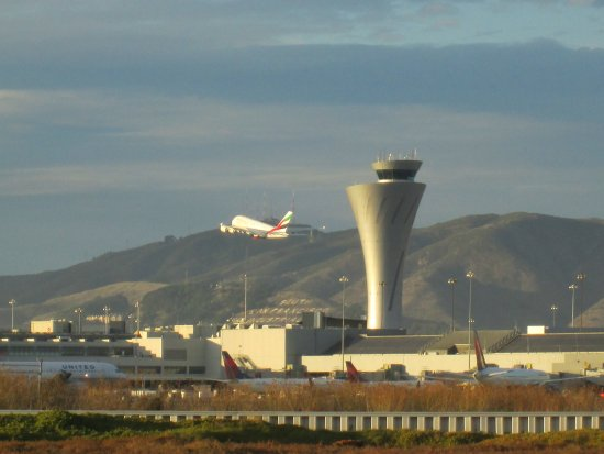 Aloft San Francisco Airport: View of the San Francisco International Airport from Bayview Park