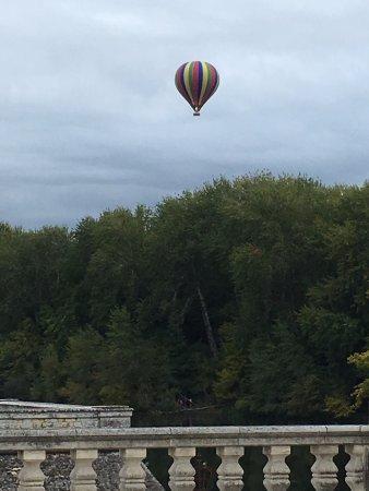 Chateau de Chenonceau Exterior, Hot Air Balloon