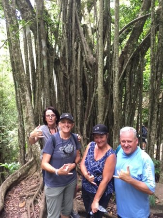 Makawao, HI: Rest break during hike