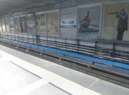 Metro Railway : Maidan Station